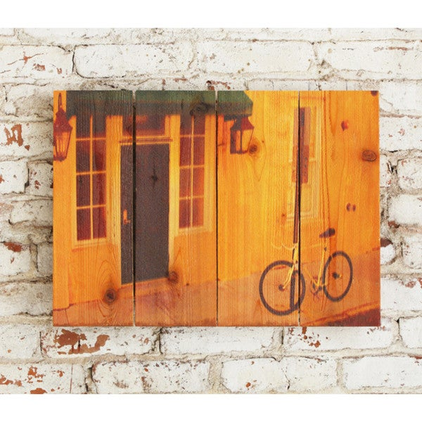 Curb Appeal 22.5x16 Indoor/ Outdoor Full Color Cedar Wall Art