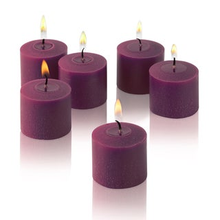 Purple Unscented Votive Candles (Set of 12)