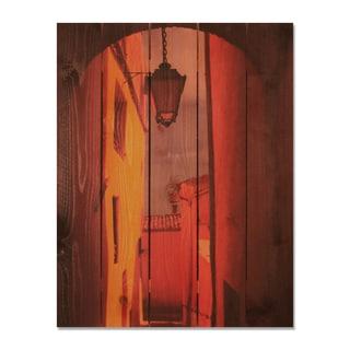 Arch Way 28x36 Indoor/ Outdoor Full Color Cedar Wall Art