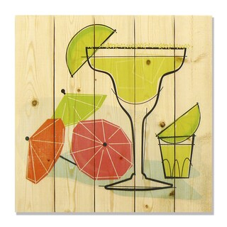 Summer Margaritas 17x17 Wile E. Wood Indoor/ Outdoor Full Color Cedar Wall Art