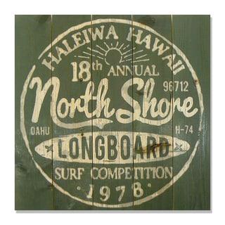 North Shore 17x17 Wile E. Wood Indoor/ Outdoor Full Color Cedar Wall Art