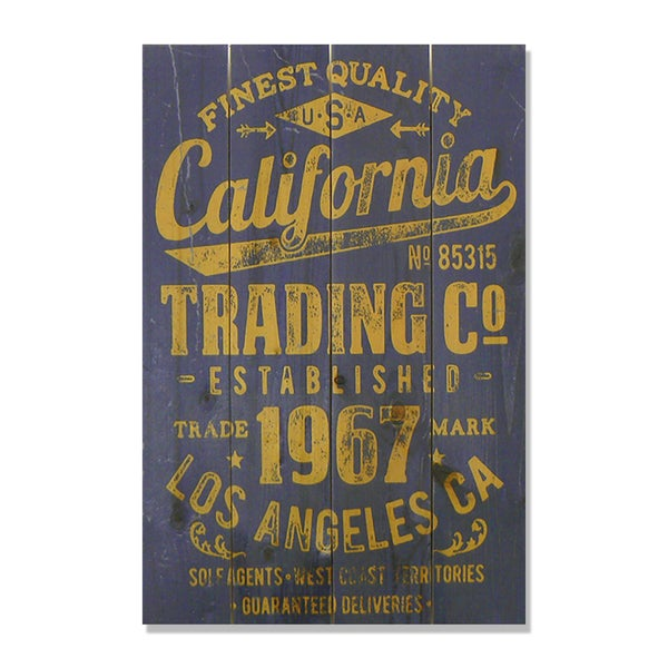 California Trading Company 14x20 Wile E. Wood Indoor/ Outdoor Full Color Cedar Wall Art
