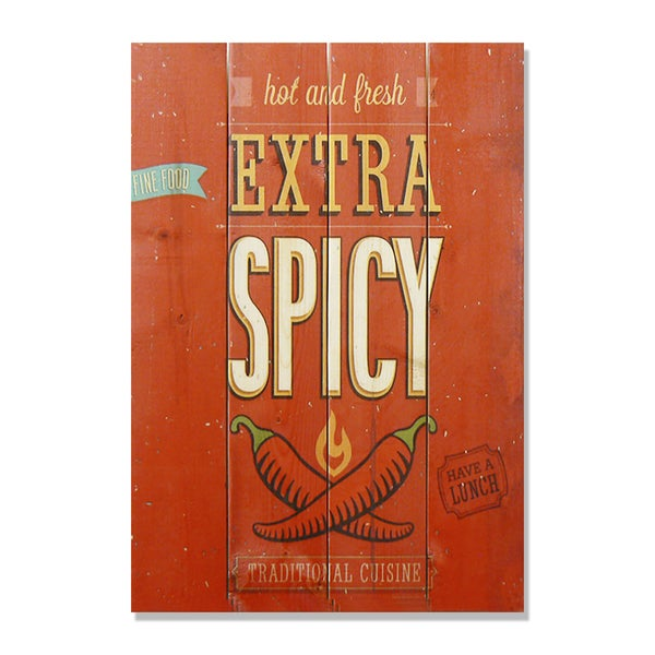 Extra Spice 14x20 Wile E. Wood Indoor/ Outdoor Full Color Cedar Wall Art