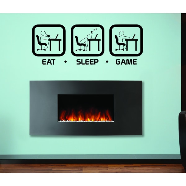 Eat Sleep Game Wall Art Sticker Decal