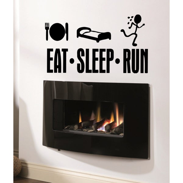 Eat Sleep Run Kids Wall Art Sticker Decal