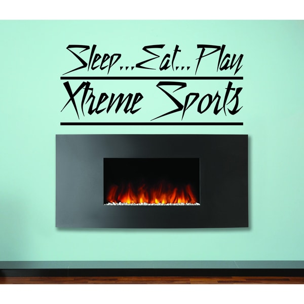 Eat Sleep Play Extreme Sport Wall Art Sticker Decal