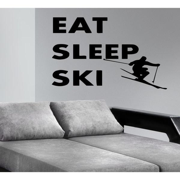 Eat Sleep Ski Wall Art Sticker Decal