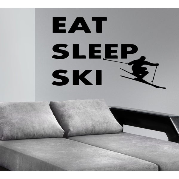 Eat Sleep Ski Wall Art Sticker Decal