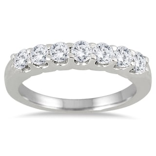 Marquee Jewels 14k White Gold 3/4ct TDW Prong-set 7-stone Diamond Band (I-J, I2-I3)