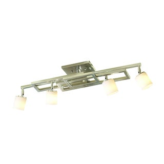 Kichler Lighting Contemporary 4-light Brushed Nickel Rail Light