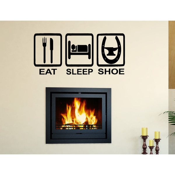 Eat Sleep Shoe Wall Art Sticker Decal