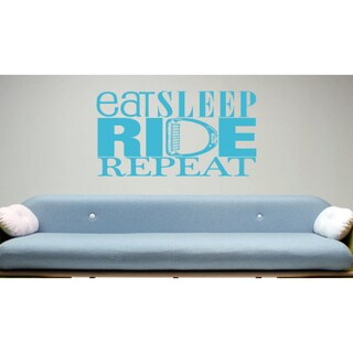 Eat Sleep Ride Repeat Kids Room Children Wall Art Sticker Decal Blue
