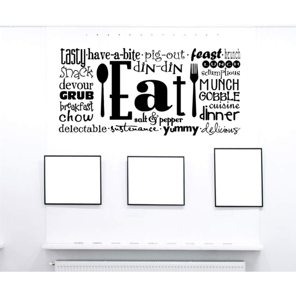 Eat Sleep Salt Pepper Wall Art Sticker Decal