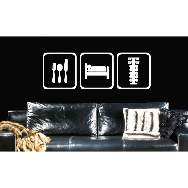 Eat Sleep Formula 1 Wall Art Sticker Decal White