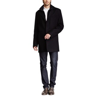 Cole Haan Black Wool Top Coat, Size S