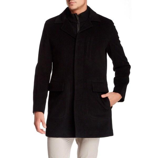 Cole Haan Men's Black Wool Coat, Size S