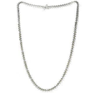 Sterling Silver 3 5/8ct TGW Ruby and Diamond Accent Necklace (I-J, SI1-SI2)