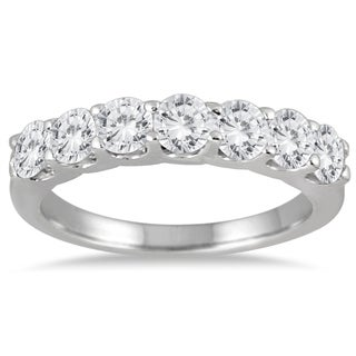 Marquee Jewels 14k White Gold 1 3/8ct TDW 7-stone Diamond Band (I-J, I2-I3)
