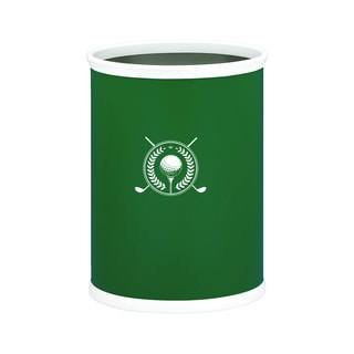 Kasualware 14-inch Oval Waste Basket 13-quart Golf