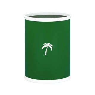 Kasualware 14-inch Oval Waste Basket 13-quart Palm Tree