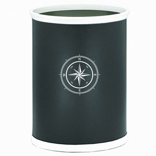 Kasualware 14-inch Oval Waste Basket 13-quart Compass Point