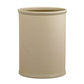 Contempo 14-inch Oval Waste Basket Tan Bumper