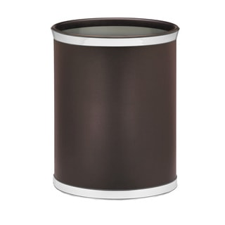 Sophisticates with Polished Chrome 14-inch Oval Waste Basket