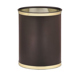 Sophisticates with Polished Gold 14-inch Oval Waste Basket