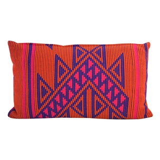 Lumbar Jacquard Cotton Pillow (India)