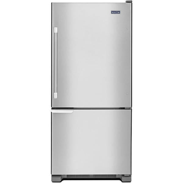 Maytag heritage series 18 5 bottom freezer for 18 cubic foot french door refrigerator