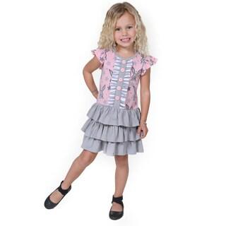 Jelly the Pug Girls' Tara Knit Cap Sleeve Round Neck Dress