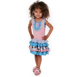 Jelly the Pug Girls' Chioe Cateyes Knit Sleeveless Round Neck Dress