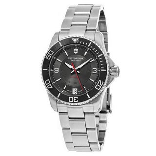 Swiss Army Women's V241708 'Maverick' Grey Dial Stainless Steel Swiss Automatic Watch