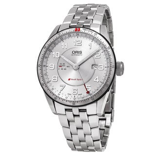 Oris Men's 01 747 7701 4461-07 8 22 85 'Audi' Silver Dial Stainless Steel GMT Sport Swiss Automatic Watch