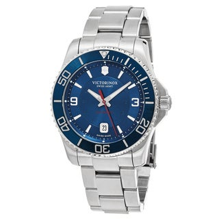 Swiss Army Men's V241706 'Maverick' Blue Dial Stainless Steel Swiss Automatic Watch