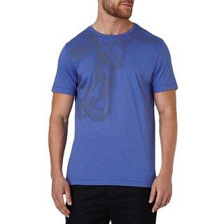 Versace Collection Royal Blue Half Medusa T-shirt