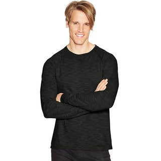 Hanes Men's Relaxed V-Notch Long-Sleeve Tee
