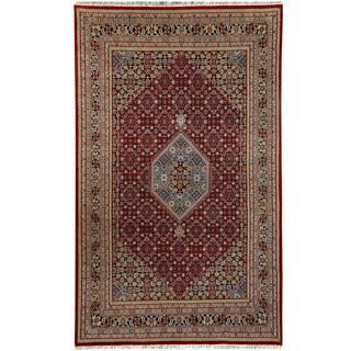 Herat Oriental Indo Hand-knotted Bidjar Red/ Navy Wool Rug (6'9 x 10')