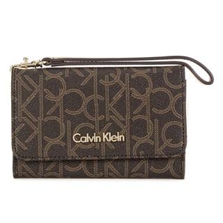 Calvin Klein Saffiano Leather Cellphone Case