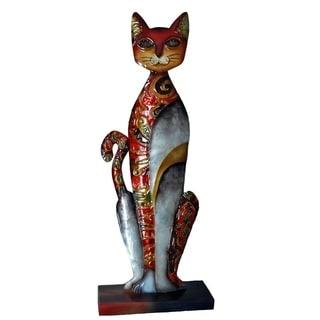 Standing Cat in Red Metal Art (Philippines)