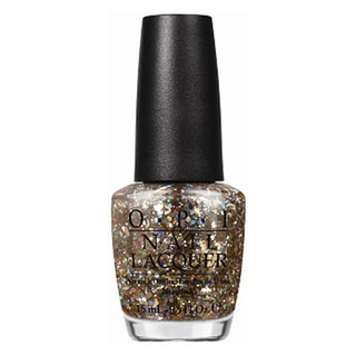 OPI Spotlight on Glitter I Reached My Gold Nail Lacquer