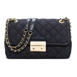 Michael Kors Sloan Dark Denim Large Chain Shoulder Handbag