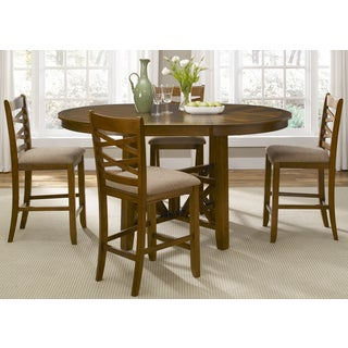 Bistro Honey Brown Oval X Base 48x66 Gathering Table