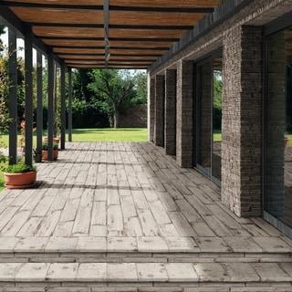 SomerTile 8.25x23.5-inch Lambris Blanc Porcelain Floor and Wall Tile (8 tiles/11.22 sqft.)
