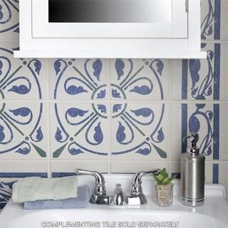 SomerTile 7x7-inch Grava Quatro Deco Centro Porcelain Floor and Wall Tile (Case of 4)