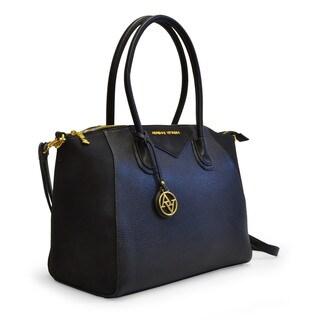 Adrienne Vittadini Lux Pebble Grain Satchel Handbag