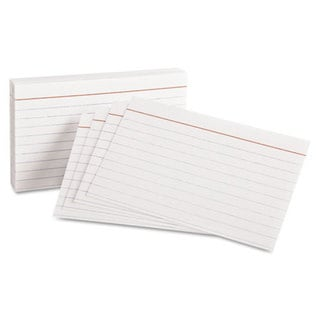 Ruled Index Cards 3 x 5 White 10 Packs of 100