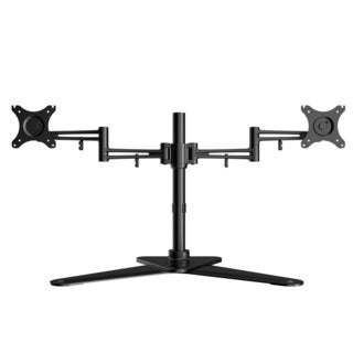 Loctek Df2d Full Motion Free Standing Dual Monitor Arm Desk Mounts Fits Most 10-27 Inches Lcd Screens ,heavy Duty Desktop Stand