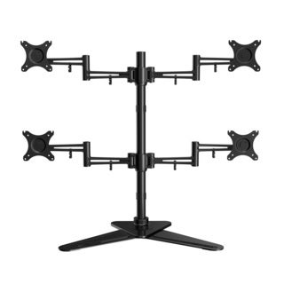 Loctek Df2q Full Motion Free Standing Quad Monitor Arm Desk Mounts Fits Most 10-27 Inches Lcd Screens ,heavy Duty Desktop Stand