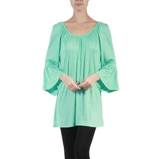 JED Fashion Women's Off-the-Shoulder Bell Sleeve Tunic Top